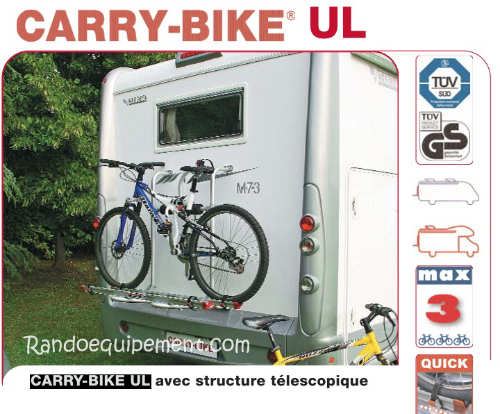 carry bike ul porte velos camping car accessoires rando equipement. Black Bedroom Furniture Sets. Home Design Ideas