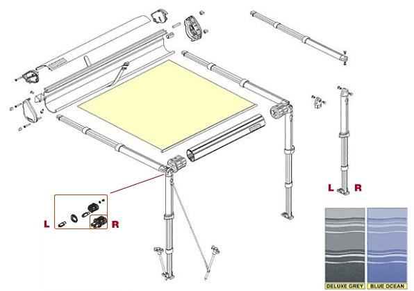store f35 m grey auvent pour 4x4 et voitures accessoires rando equipement. Black Bedroom Furniture Sets. Home Design Ideas