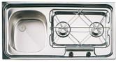 EVIERS COMBINE EVIER/RECHAUD INOX SUTER CAMPING-CAR/BATEAU - combin�s Suter