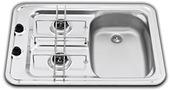 COMBINE 2 FEUX 600 X 420 X 125 CUVE D. INOX