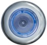 x SPOT INOX A LED BLANC ANNEAU BLEU - spot inox � led blanc anneau bleu