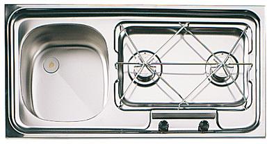 Eviers combine evier rechaud inox suter camping car bateau combin s suter - Combine evier plaque de cuisson ...