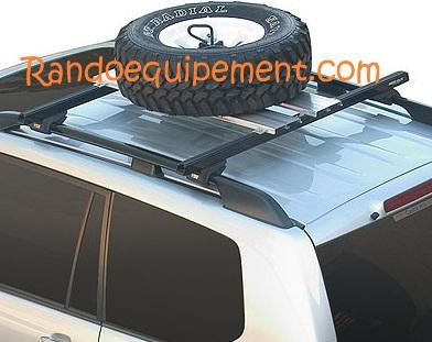 plate forme pour support de roue barre de toit pour 4x4 accessoires rando equipement. Black Bedroom Furniture Sets. Home Design Ideas