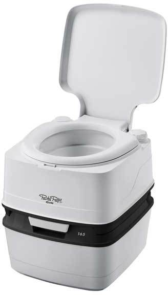 Wc chimique portable porta potti 165 qube camping car for Wc chimique portable