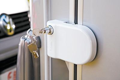bloc de securite pour porte safe door camping car et caravane accessoires rando equipement. Black Bedroom Furniture Sets. Home Design Ideas