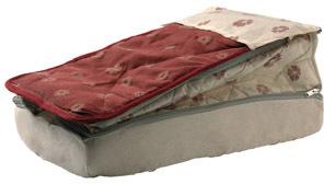 lit tout fait jacquard rouge 140x190 accessoires rando equipement. Black Bedroom Furniture Sets. Home Design Ideas
