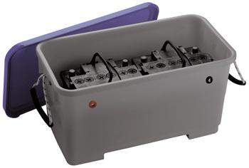 bac a batterie plastique grand modele accessoires rando equipement. Black Bedroom Furniture Sets. Home Design Ideas