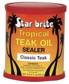entretien du teck fonce tropical teak oil sealer 473 ml star brite accessoires rando. Black Bedroom Furniture Sets. Home Design Ideas
