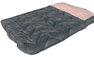 lit tout fait 130 140x200 gris cote gauche pour camping car caravane accessoires rando. Black Bedroom Furniture Sets. Home Design Ideas