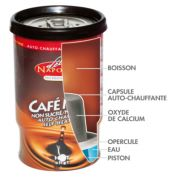 BOISSONS AUTO CHAUFFANTES CAFE/CAPUCCINO /THE/CHOCOLAT