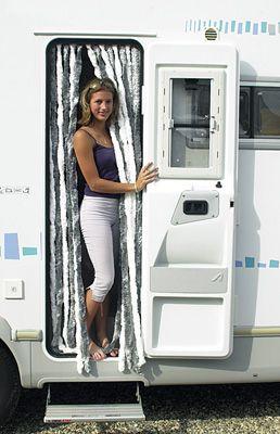 rideau de porte chenille camping car