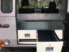 AMENAGEMENT A TIROIRS POUR LAND ROVER DEFENDER 90 / 110