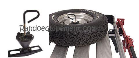ROUE DE SECOURS: Fixation RHINO-RACK roue de secours sur galerie
