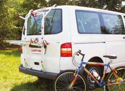 PORTE-VELOS T5 HAYON Carry-BIke VW T5 avec 2 Rail Quick Carry Bike image 2