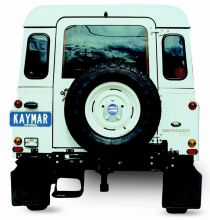 LAND ROVER DEFENDER 90 / 110 PORTE-ROUE CENTRAL SUR CHASSIS KAYMAR