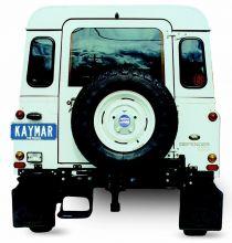 x LAND ROVER DEFENDER 90 / 110 PORTE-ROUE DECENTRE SUR CHASSIS  KAYMAR