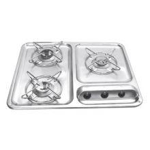 RECHAUD 3 FEUX INOX SECURITE - TABLE DE CUISSON - RECHAUD CAMPING CAR