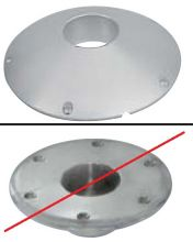 x PIED DE TABLE GOIOT Embase aluminium apparente sol ou table