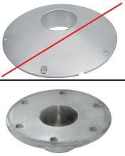 x PIED DE TABLE GOIOT Embase encastrée aluminium ط 225
