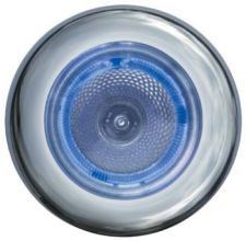 x SPOT INOX A LED BLANC ANNEAU BLEU - spot inox à led blanc anneau bleu