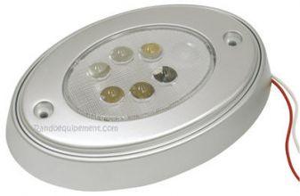 x PLAFONNIER OVALE 6 LEDS - plafonnier ovale 6 leds