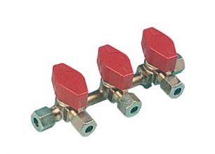 VANNE GAZ TRUMA 3 VOIES  ط  E10/S8 + RACCORDS BICONES - vanne gaz Truma 3 voies