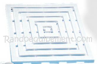 CLAYETTE DE DOUCHE 50 X 50 MM - clayette de douche plastique 50x50