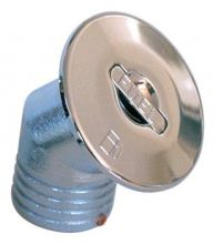 NABLE ط 50 MM FUEL A EMBOUT CANNELE COUDE A 45°  LAITON CHROME