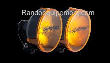 x LIGHT FORCE 140: Cache/Filtre AMBRE pour longue portée Light Force