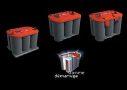 BATTERIE OPTIMA ROUGE EN 12V DEMARRAGE (BORNE + ہ DROITE)