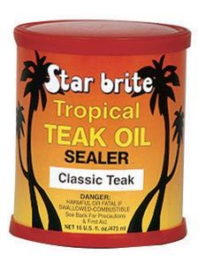 entretien du teck naturel tropical teak oil sealer 473 ml star brite. Black Bedroom Furniture Sets. Home Design Ideas