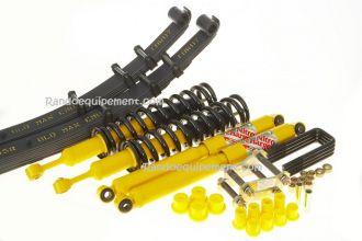 Kit standard pour tous 4x4 équipés de 4 ressorts hélicoïdaux et 4 amortisseurs.