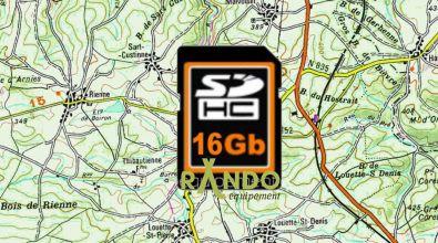 Cartes Pays de l'Est sur carte SD 16GO pour GPS NAVIGATTOR