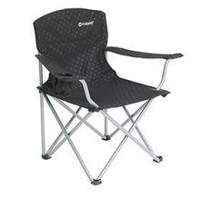 chaise-pliante-noire-siege-pliable-porte-gobelet-accoudoir-acier