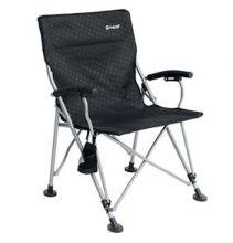 chaise-pliante-xl-noire-siege-pliable-porte-gobelet-accoudoir-acier