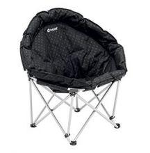 fauteuil-pliant-rond-noir-siege-pliable-acier-polyester