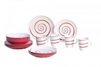 vaisselle-melamine-service-de-vaisselle-set-de-table-blanc-rouge16-pieces