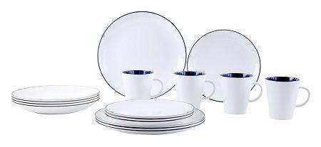 vaisselle-melamine-set-de-table-blanc-bleu-16-pieces