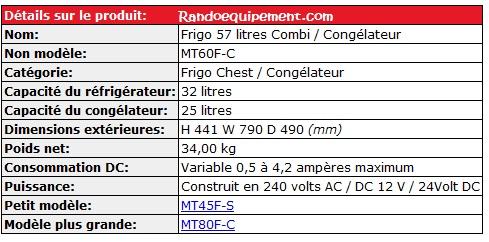 REFRIGERATEUR ENGEL - CONGELATEUR MD60F-C  60 LITRES