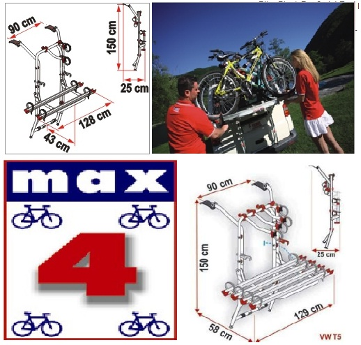 KIT DE CONVERSION MAX 4 Carry Bike Passer de 2 à 4 vélos
