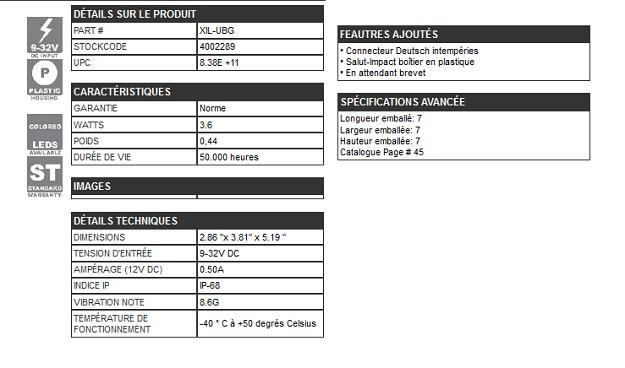 GYROPHARE 18 LEDs / 0.30 A BLANC