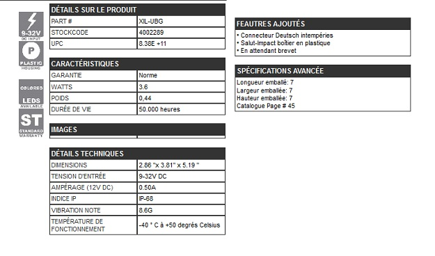 GYROPHARE 18 LEDs / 0.30 A BLEU