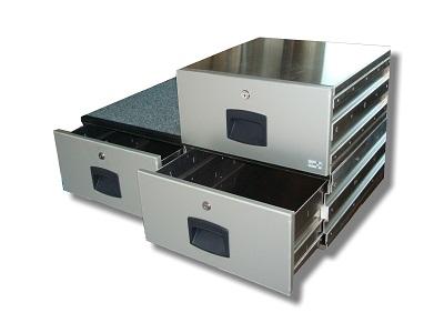x COFFRE A TIROIRS AMENAGEMENTS 900 x 450 x 900  CAR'BOX 121/90