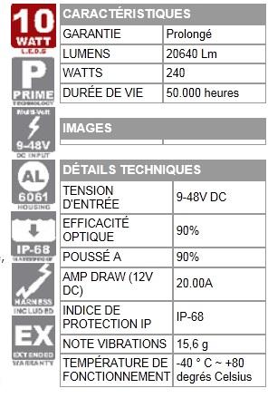 BARRES LED « EVOPRIME »  LONGUEUR:  99.4 CM VISION X XIL-EP2420/2440