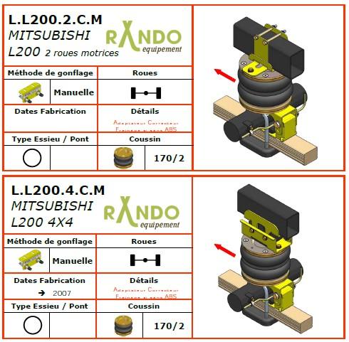 mitsubishi l200 suspension pneumatique auxiliaire. Black Bedroom Furniture Sets. Home Design Ideas