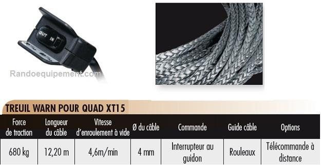 TREUILS DE QUADS ET SSV WARN XT15 (680 Kg) - LOISIRS (2x4)