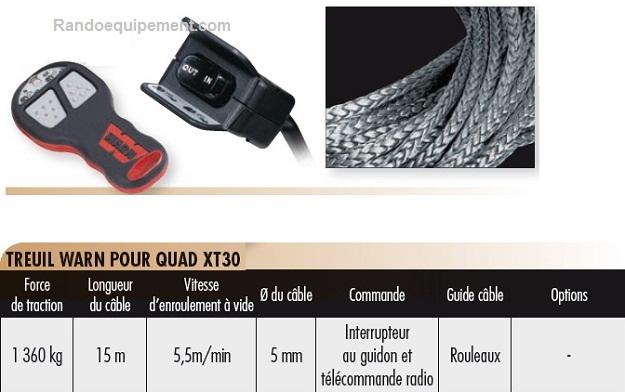 TREUILS DE QUADS ET SSV WARN XT30 (1360 Kg) - SSV et UTILITAIRES (4x4)