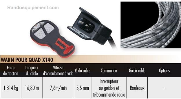 TREUILS DE QUADS ET SSV WARN XT40 (1814 Kg) - SSV (4x4)
