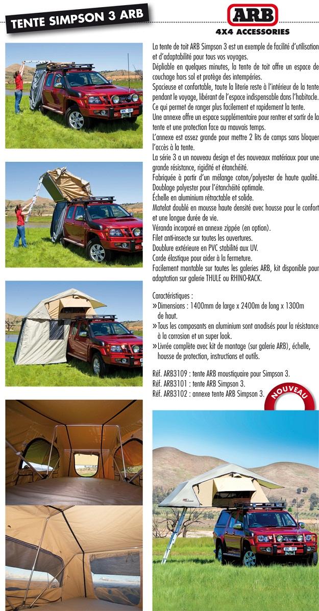 TENTE ARB ANNEXE TENTE SIMPSON 3 - Tente de toit ARB