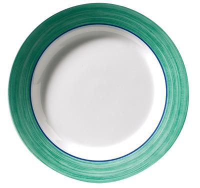 vaisselle primavera melamine verte version ronde pour camping car bateau. Black Bedroom Furniture Sets. Home Design Ideas